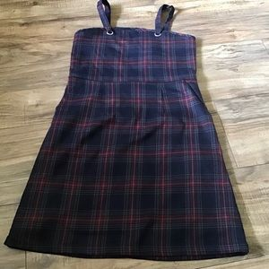 Forever 21 red and blue plaid dress
